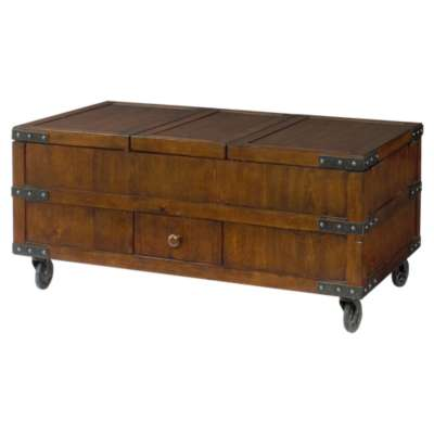 Picture for Hidden Treasures Trunk Cocktail Table by Hammary