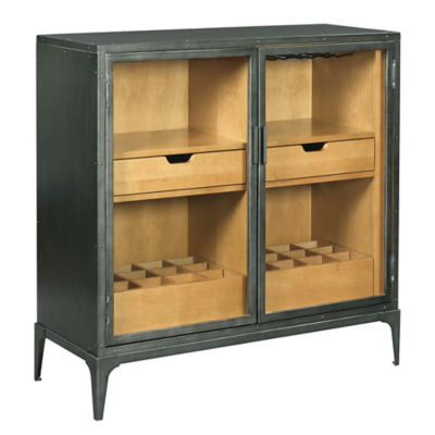 Picture of Hidden Treasures Metal Hall Cabinet by Hammary