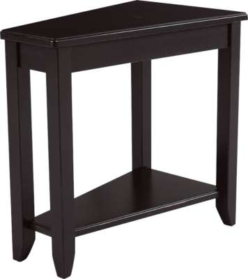 Black for Wedge Chairside Table by Hammary (HAM200-T002)
