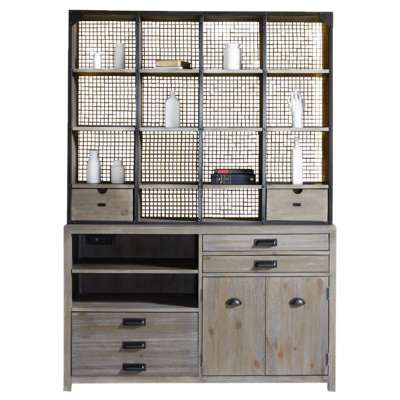 Picture for Parsons Credenza with Hutch by Hammary