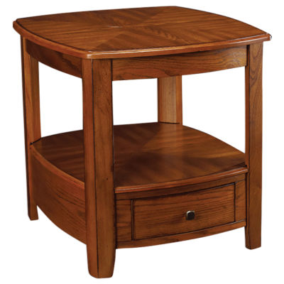 Picture of Primo Rectangular Drawer End Table in Brown by Hammary