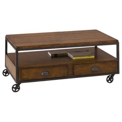 Picture for Baja Rectangular Storage Cocktail Table by Hammary