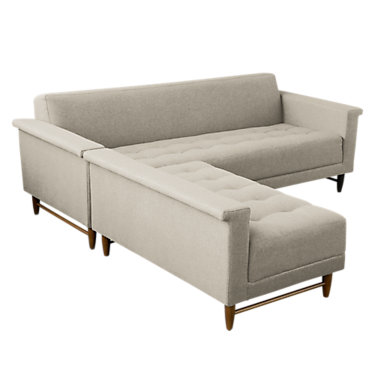 HARBORDLBI-PARLIAMENT STONE: Customized Item of Harbord Loft Bisectional Sofa by Gus Modern (HARBORDLBI)