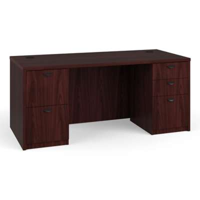 Picture for Basyx Laminate Desk with 2 Pedestals by HON