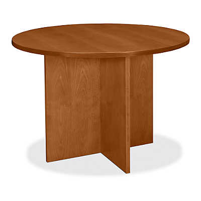 "Picture of Basyx 42"" Round Veneer Conference Table"