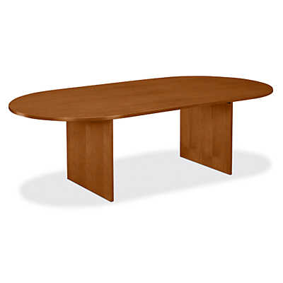 "Picture of Basyx 96"" Slab Base Veneer Conference Table"