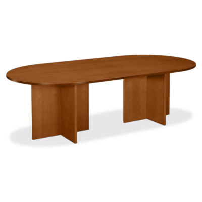 "Picture of Basyx 96"" X-Base Veneer Conference Table"