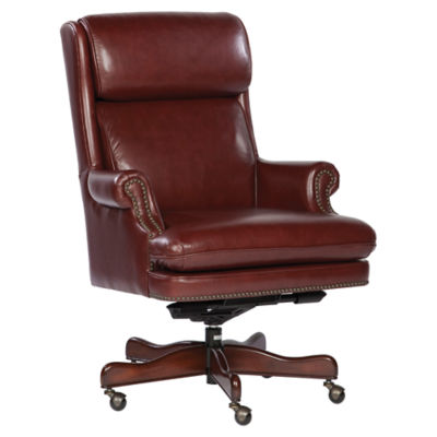 Picture of Leather Executive Chairs with Casters by Hekman