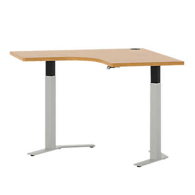 "Picture of Systems 47"" Curved Corner Height Adjustable Table"