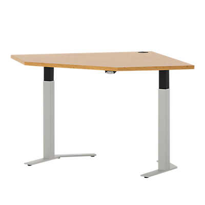 "Picture of Systems 47"" Straight Corner Height Adjustable Table"
