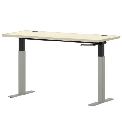 "Picture of Systems 58"" Wide Rectangle Height Adjustable Table"