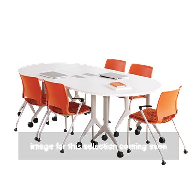 Motivate Half Round Table By Hon Smart Furniture - Hon racetrack conference table