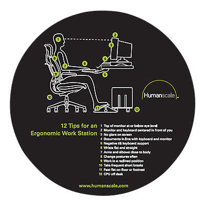 Picture of 12 Tips Ergo Mouse Pad by Humanscale