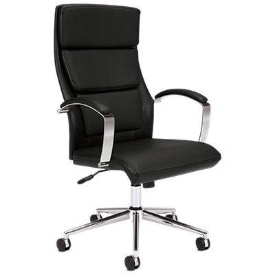 basyx hvl105 high back leather executive chair by hon smart furniture