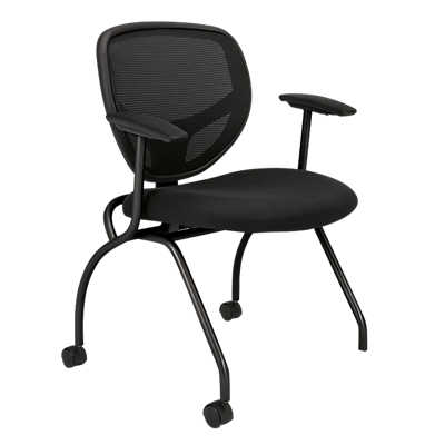Picture of Basyx Mesh Nesting Chair with Arms, Set of 2