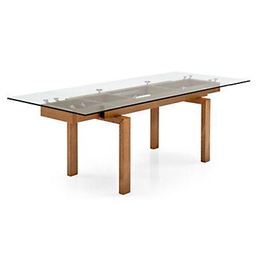 HYPERTBL-TRANSPARENT-WENGE: Customized Item of Hyper XR Extendable Dining Table by Calligaris (HYPERTBL)