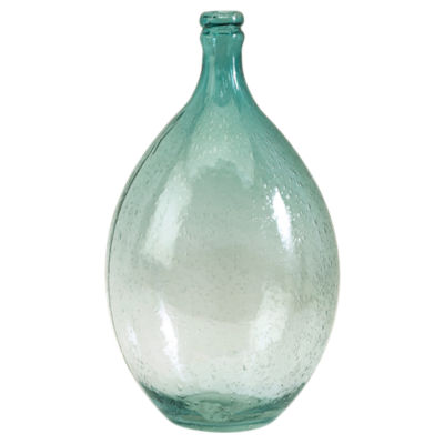 Picture of Amadour Medium Bubble Glass Bottle by IMAX
