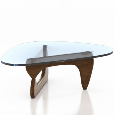 IN50-WALNUT: Customized Item of Noguchi Table by Herman Miller (IN50)