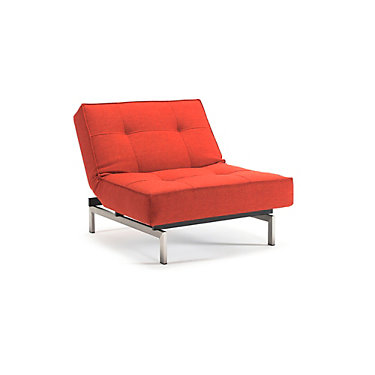 IN94741011C-MIXED DANCE BURNED ORANGE-STAINLESS STEEL: Customized Item of Splitback Lounge Chair by Innovation-USA (IN94741011C)