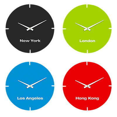 Picture of International Clocks, Set of 4 by Scale 1:1