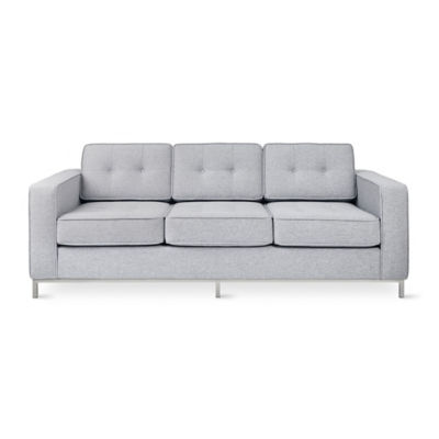 JANESOFA-BAYVIEWSILVER-STAINLESS: Customized Item of Jane Sofa by Gus Modern (JANESOFA)
