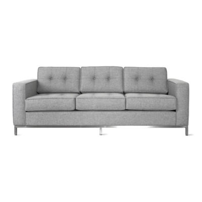 JANESOFA-PARLIAMENT STONE-STAINLESS: Customized Item of Jane Sofa by Gus Modern (JANESOFA)