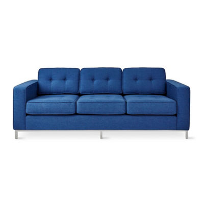 JANESOFA-STOCKCOBALT-WALNUT: Customized Item of Jane Sofa by Gus Modern (JANESOFA)