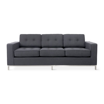 JANESOFA-URBAN TWEED INK-STAINLESS: Customized Item of Jane Sofa by Gus Modern (JANESOFA)