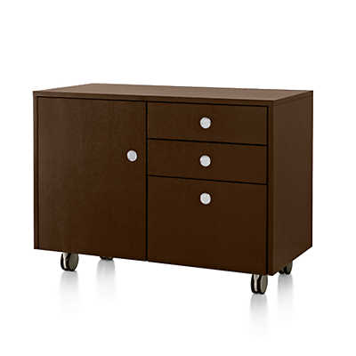 Picture of Geiger Ward Bennett Sled Base Mobile Credenza by Herman Miller