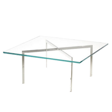 "KN252-STARPHIRE: Customized Item of Barcelona Table by Knoll, 17"" Tall (KN252)"