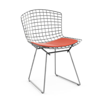 KN420S-C-K-K24265: Customized Item of Bertoia Side Chair with Seat Pad by Knoll (KN420S)