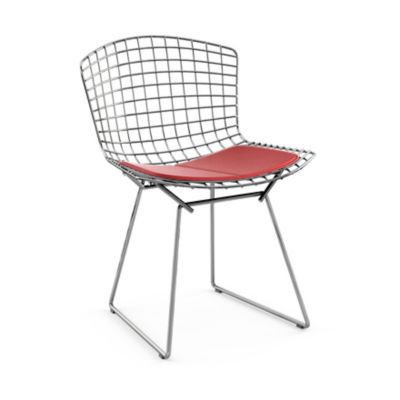 KN420S-C-K-K24221: Customized Item of Bertoia Side Chair with Seat Pad by Knoll (KN420S)