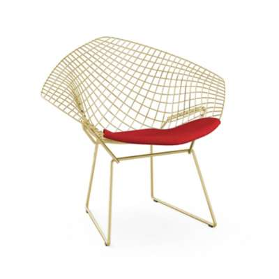 Picture for Bertoia Gold Diamond Chair by Knoll
