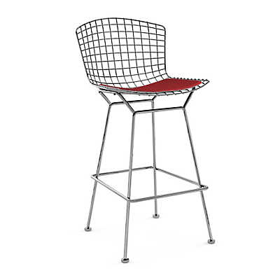 Picture of Bertoia Stool with Seat Pad by Knoll