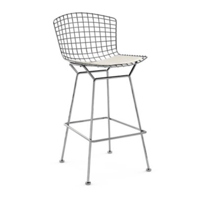 KN428427CCKK24213: Customized Item of Bertoia Stool with Seat Pad by Knoll (KN428)