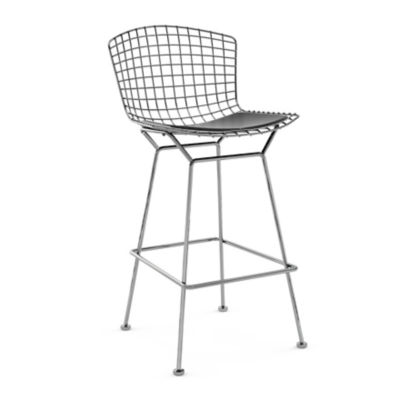KN428CBLKK24217: Customized Item of Bertoia Stool with Seat Pad by Knoll (KN428)