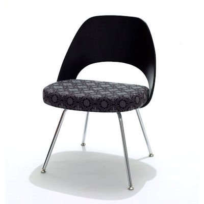 Black Plastic Back for Saarinen Executive Armless Chair, Plastic Back by Knoll (KN72)