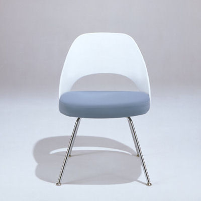 White Plastic Back for Saarinen Executive Armless Chair, Plastic Back by Knoll (KN72)