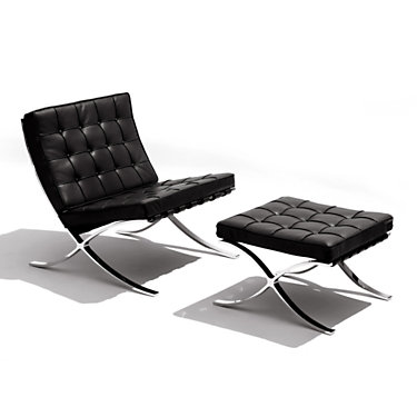 KNBARSET-VO953-N-C: Customized Item of Barcelona Lounge Chair and Ottoman by Knoll (KNBARSET)