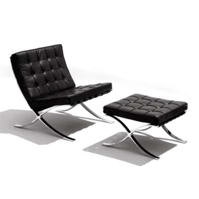 Picture for Barcelona Lounge Chair and Ottoman by Knoll