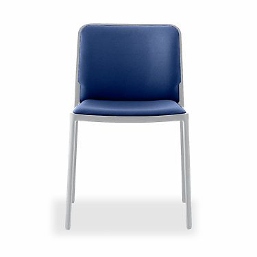 KT597-A-POLISHED ALUMINUM-GREY: Customized Item of Audrey Soft Chair by Kartell, Set of 2 (KT597)