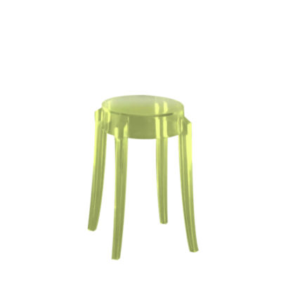 KTCGS2PK-GREEN: Customized Item of Charles Ghost Stool by Kartell, Set of 2 (KTCG)