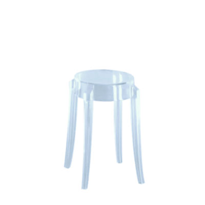 KTCGL2PK-LIGHT BLUE: Customized Item of Charles Ghost Stool by Kartell, Set of 2 (KTCG)