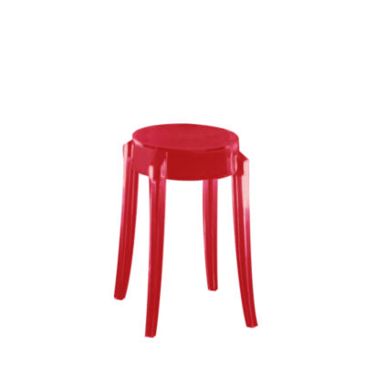 KTCGM2PK-RED: Customized Item of Charles Ghost Stool by Kartell, Set of 2 (KTCG)