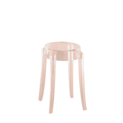 KTCGM2PK-ROSE: Customized Item of Charles Ghost Stool by Kartell, Set of 2 (KTCG)