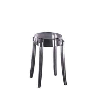 KTCGL2PK-SMOKE GREY: Customized Item of Charles Ghost Stool by Kartell, Set of 2 (KTCG)