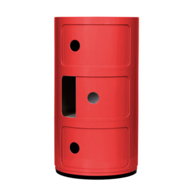 KTCR3-4967-SI: Customized Item of Componibili Small Round Storage Modules by Kartell (KTCR3)