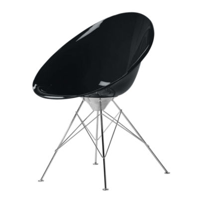 KTERO4-GLOSSY BLACK: Customized Item of Ero S Chair by Kartell, 4 Legs (KTERO4)