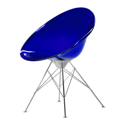 KTERO4-COBALT: Customized Item of Ero S Chair by Kartell, 4 Legs (KTERO4)