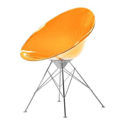 KTERO4-ORANGE: Customized Item of Ero S Chair by Kartell, 4 Legs (KTERO4)